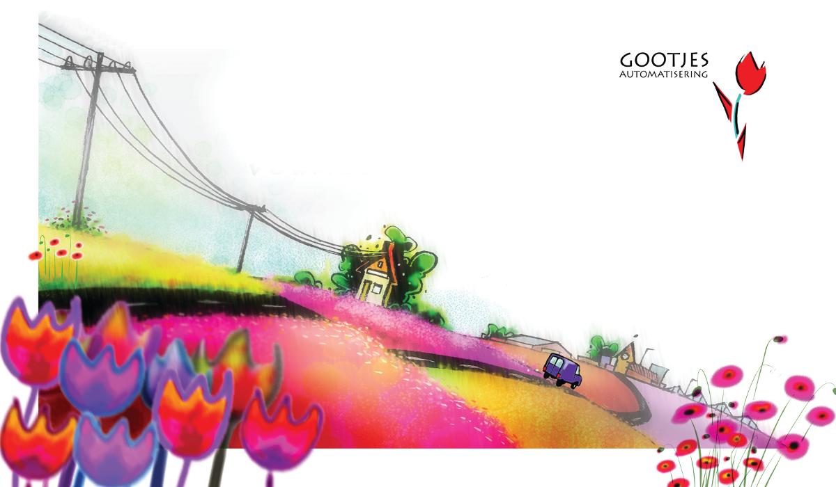 Kleurrijk bloemenlandschap